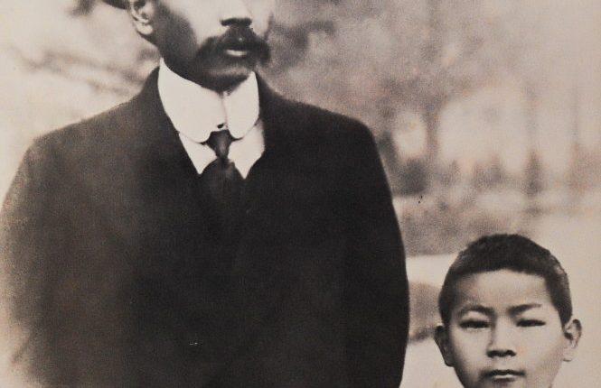 Phan Châu Trinh và con trai Phan Châu Dt.  ¢nh:  t° liÇu gia ình