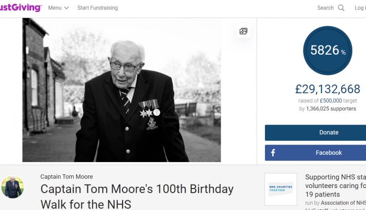 Cap Tom Moore 100 Old